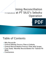 Block Model Reconciliation Process at Se Buku