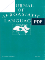 Diakonoff - Proto-Afrasian and Proto-Akkadian