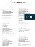 Performing Arts Lyrics