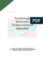 Terminologia Baloncesto.