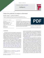 Joseph F. Fagan and Cynthia R. Holland - Culture-Fair Prediction of Academic Achievement