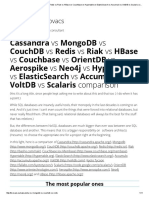 Cassandra vs MongoDB vs CouchDB vs Redis vs Riak vs HBase vs Couchbase vs Hypertable vs ElasticSearch vs Accumulo vs VoltDB vs Scalaris Comparison __ Software Architect Kristof Kovacs