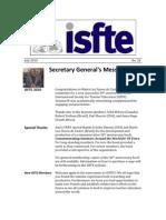 ISfTE Newsletter 28 July 2010