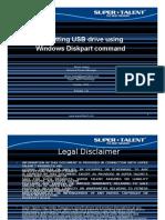 Resetting USB Drive Using Windows Diskpart-V1