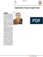 Comunicazione istituzionale, l'Ateneo sceglie Nonni - Il Corriere Adriatico del 10 gennaio 2017