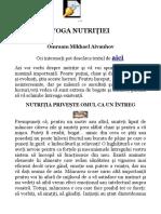Yoga Nutritiei 2
