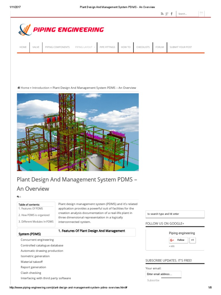 Plant Design And Management System Pdms An Overview World Wide Web Technology Free 30 Day Trial Scribd