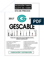 201701 Gescable Tarifa Enero 2017 Pvp