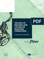 The role of walking and cycling on urban congestion