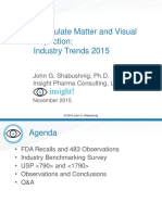 Particulate Matter and Visual Inspection Industry Trends 2015