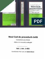 Noul Cod de Procedura Civila Vol I Art. 1-455 2016