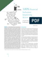 100 Percent Financial Inclusion - Gulbarga District Initiative