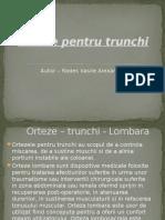 Ortezarea Trunchi - Rades Vasile Alexandru