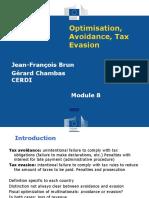 8. Optimisation Avoidance Tax Evasion