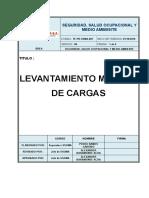 TE-PR-SSMA-007 Procedimiento de Levantamiento Manual de Cargas