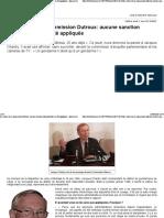 2015 La Meuse - Les Suites de La Commission Dutroux - Aucune Sanction Administrative n'a Été Appliquée