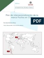 Internationalization scheme of FLUCHOS shoes brand in Chile