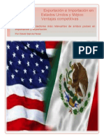 Analysis of the competitive advantages of USA and Mexico in import and export.