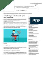 Como Proteger o Wordpress de Spam Nos Comentários - Naveg
