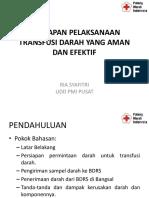 Persiapan Pelaksanaan Transfusi Darah