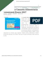 Precio de La Canasta Alimentaria Venezuela Enero 2017