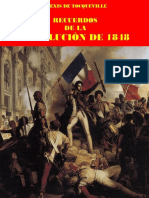 ALEXIS de TOCQUEVILLE, Recuerdos de La Revolución de 1848