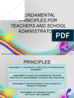 Assessment Prnciples for Teachers and School Administrators
