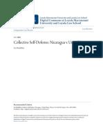 Collective Self-Defense- Nicaragua v. United States