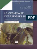 La Grammaire Des Premiers Temps V1
