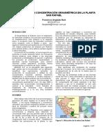 MET 3.Desarrollos en Concentracion Gravimetrica en Planta Sa