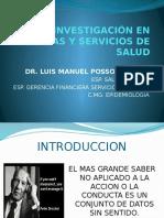 Investigación en Sistemas y Servicios de Salud