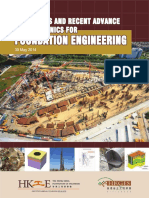 Challenges and Recent Advance in Geotechnics for Foundation Engineering