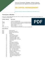 Resumo de Transações, Medidas, Infotipo... de Hora Para SAP HCM _ Blog Milênio 3
