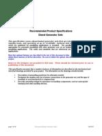 Diesel Gensets Part 1 Sample Spec