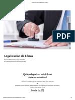 Notaria Párraga _ Legalización de Libros