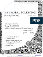 999 Conbined HOLST 6 Choral Folksongs