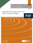 Modificaciona a La NIIF PYME Mayo 2015