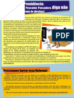 Pescador, pescadora, diga não à Reforma da Previdência!