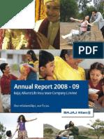 BAJAJ ALLIANZ Annual Report 2008-09