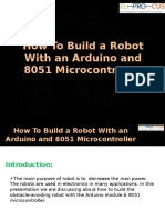 How to Build a Robot With an Arduino and 8051 Microcontroller