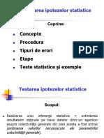 Curs _2_Testarea Ipotezelor Statistice