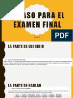 spanish 3 examen final la amistad review
