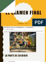 spanish 3 examen final la salud review