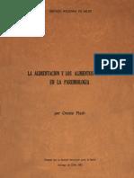 La Alimentacion y Los Alimentos Chilenos en La Pareleologia