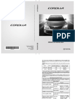 Manual Corolla 2012