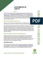 Understanding Estimates of Economic Inequality