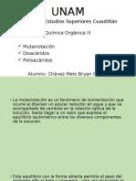 Mutarrotación, Disacaridos y Polisacaridos