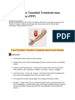 Cara Prosedur Transfusi Trombosit Atau Frozen Plasma