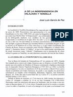 LA GUERRA DE LA INDEPENDENCIA EN  GUADALAJARA Y TENDILLA