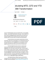Calculating MTD, QTD and YTD in BW Transformation